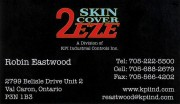 2EZE Skin Covers Val Caron Sudbury Ontario Robin Eastwood Canvas Goods and Protective Covers
