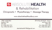 Absolute Health & Rehabilitation Chiropractors, Massage Therapy Acupuncture in Sudbury, Ontario