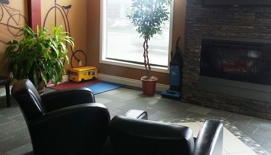Absolute-Health-&-Rehabilitation-Sudbury-ON-Waiting-Room-Fireplace