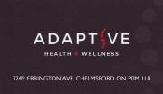 Adaptive Health & Wellness Chiropractors in Chelmsford Ontario