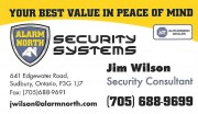 Alarm North Security Systems Security Cameras Sudbury Ontario Jim Wilson ADT Dealer Burglar Alarms