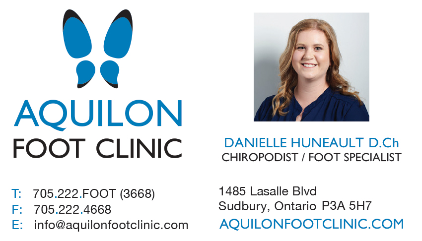 Aquilon-Foot-Clinic-Sudbury-Ontario-Danielle-Huneault-Chiropodist-Business-Card