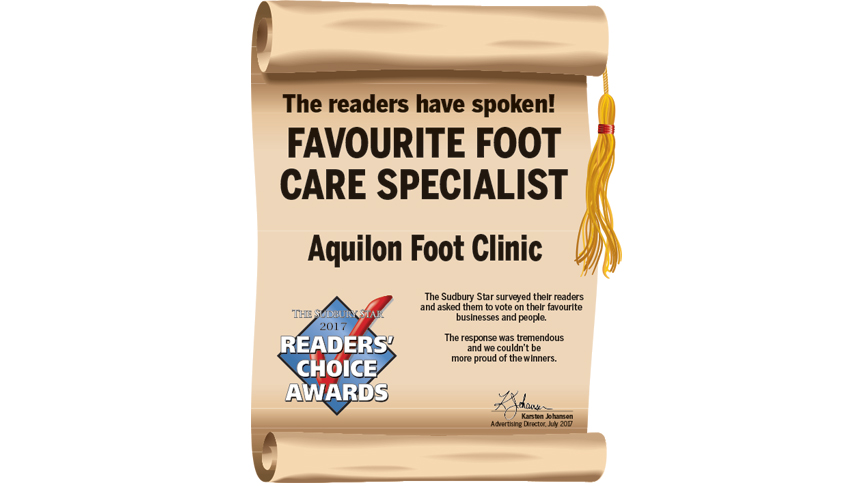 Aquilon-Foot-Clinic-Sudbury-Ontario-Favourite-Foot-Care-Specialists-Readers-Choice-Award