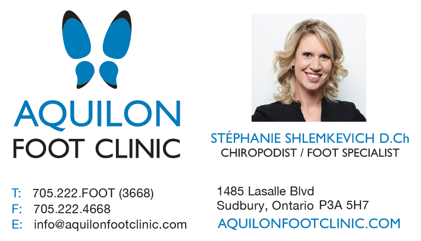 Aquilon-Foot-Clinic-Sudbury-Ontario-Stephanie-Shlemkevich-Chiropodist-Business-Card