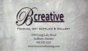 B Creative Framing Art Supplies and Gallery In Sudbury Ontario