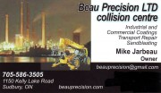 Beau Precision Collision Centre Sudbury Ontario Auto Body Repair Mike Jarbeau