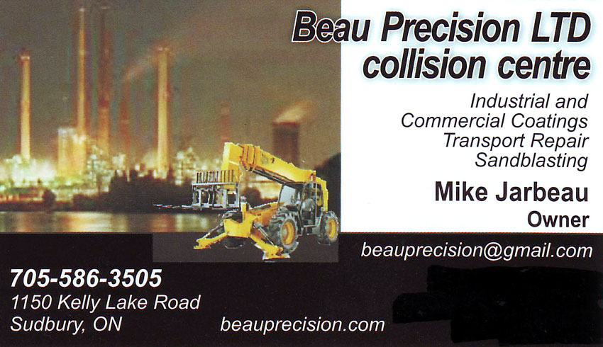 Beau-Precision-Collision-Centre-Sudbury-Ontario-Mike-Jarbeau-Auto-Body-Repair