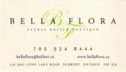 Bella Flora Floral Design Boutique in Sudbury Ontario