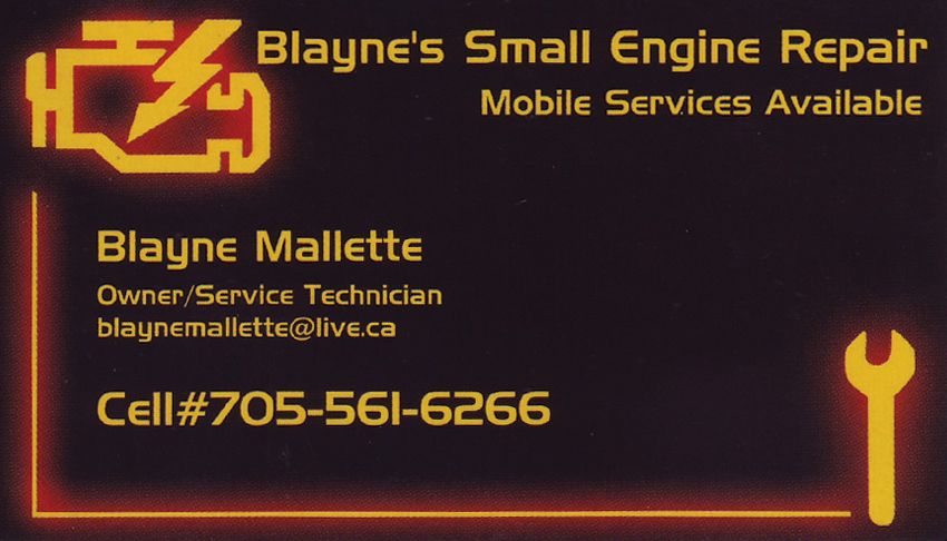 Blaynes-Small-Engine-Repair-Greater-Sudbury-Ontario-Blayne-Mallette-Owner-Service-Technician