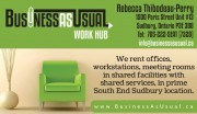 Business As Usual Work Hub Coworking Office Space Rental in Sudbury, On Rebecca Thibodeau-Perry