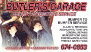 Butler's Garage in Sudbury Ontario Auto Repair and Service Tune Ups vehicle Inspections Mechanics