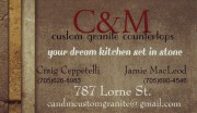 C & M Custom Granite Countertops Lorne Street Sudbury Craig Ceppetelli and Jamie MacLeod