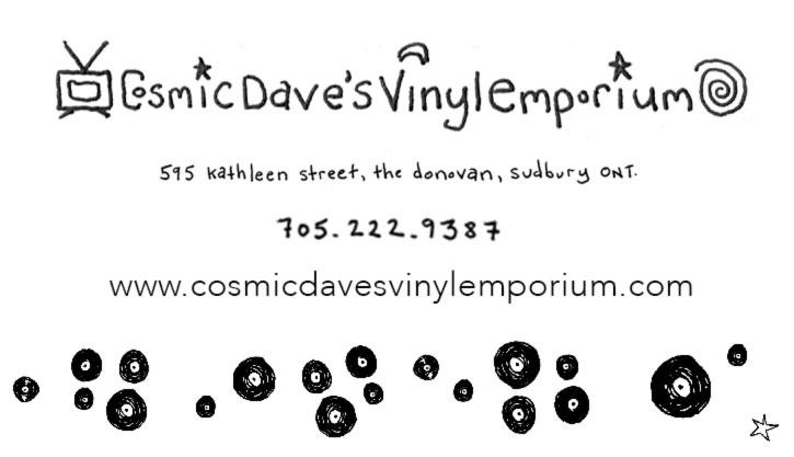 Cosmic Dave's Vinyl Emporium Kathleen Street Sudbury