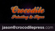 Crocodile Press Printing and Signs in Sudbury Business Card