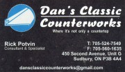 Dan's Classic Counterworks Kitchens and Countertops in Sudbury Ontario Rick Potvin