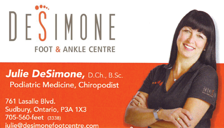 Desimone-Foot-Ankle-Clinic-Sudbury-Ontario-Julie-DeSimone-Chiropodist-Foot-Care-Orthotics