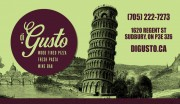 Di Gusto Italian Restaurant Wood Fired Pizza Fresh Pasta Wine Bar Sudbury Ontario