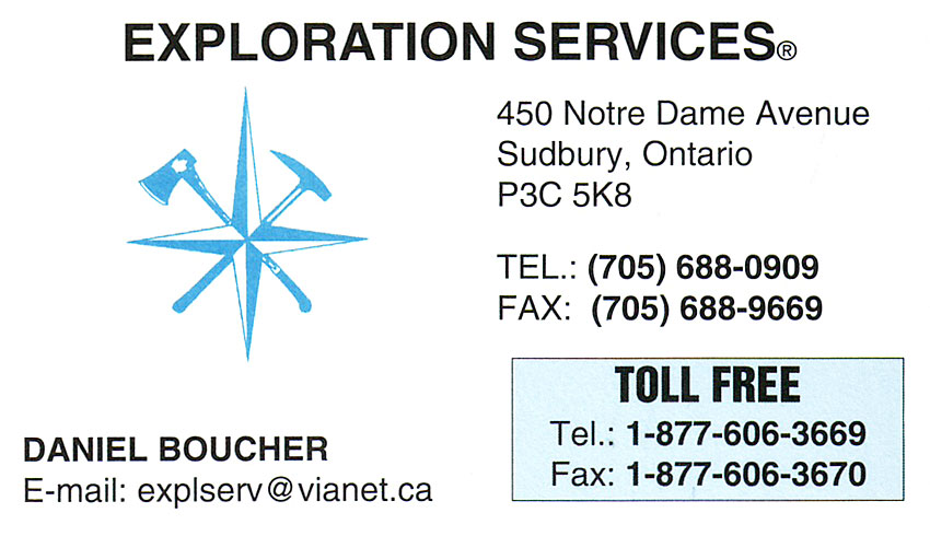 Exploration Services Sudbury Ontario Daniel Boucher Drafting Materials Surveying