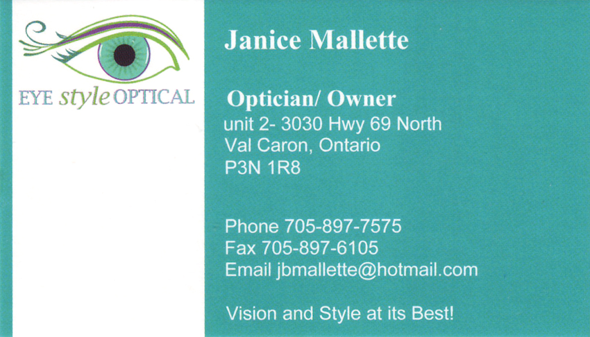 Eye-Style-Optical-Janice-Mallette-Owner-Registered-Optometrist-Val-Caron-Greater-Sudbury-Optometry