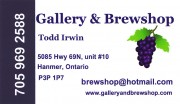 Gallery & Brewshop Wine and Gift Shop in Hanmer Valley Shopping Centre Greater Sudbury