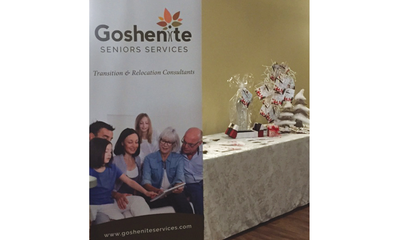 Goshenite-Serniors-Services-Sudbury-Ontario-50Plus-Expo-Booth-Banner-Transition-Senior-Relocation-Services