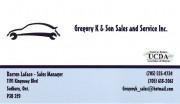 Gregory K & Son Auto Sales and Service Sudbury Ontario Darren Laface