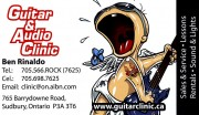 Guitar & Audio Clinic Music Store Music Lessons Sound and Lights in Sudbury, Ontario