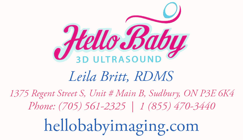 Hello Baby 3D Ultrasound Imaging in Sudbury Ontario Leila Britt