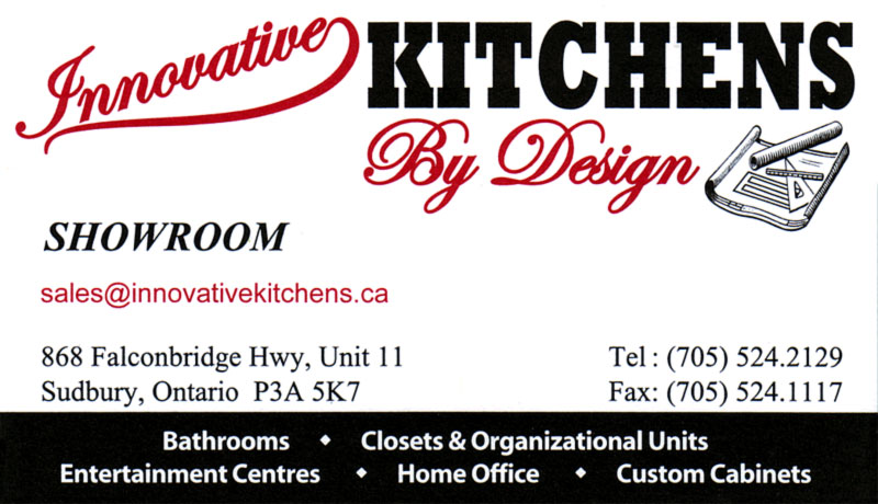 Innovative Kitchens Bathrooms and Custom Kitchen Cabinets By Design in Sudbury Ontario