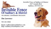 Invisible Fence of Sudbury and District Tim Lawrence Pet Products Pet Containment Specialists