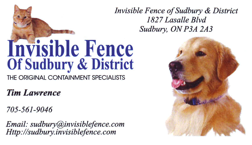 Invisible-Fence-of-Sudbury-and-District-Tim-Lawrence-Pet-Products-Pet-Containment-Specialists