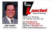 Jack Lanctot Real Estate Broker of Record at Lanctot Realty Ltd Brokerage in Val Therese Greater Sudbury