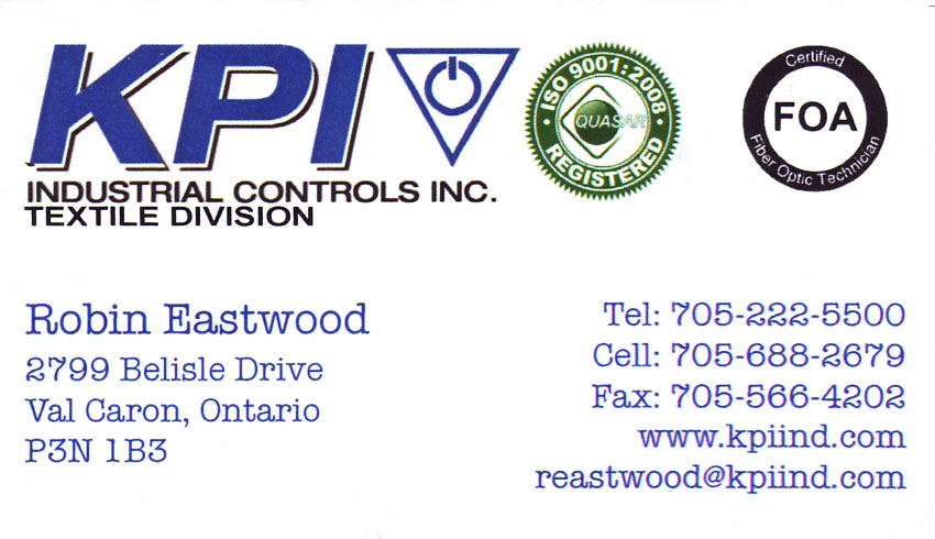 KPI-Industrial-Controls-Inc-Textile-Division-Val-Caron-Greater-Sudbury-Robin-Eastwood-Textiles-Canvass-Goods-Electrical-Equipment