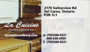 La Cuisine Kitchen Cabinets Inc Val Caron Sudbury Ontario Kitchen Remodelling and Countertops