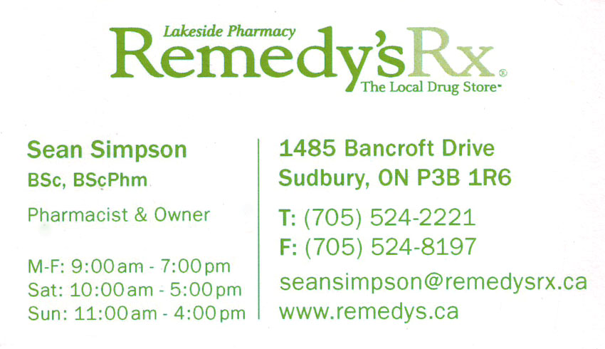 Lakeside-Pharmacy-Remedy-Rx-Sudbury-Ontario-Bancroft-Dr-Pharmacies-Vitamins-Sean-Simpson-Pharmacist