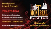 Little Montreal Bar & Deli Restaurant Sudbury Ontario Live Music Entertainment Karaoke