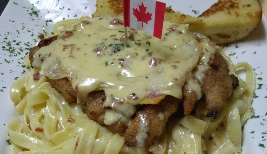 M.I.C.-Canadian-Cordon-Bleu-Carbonara-on-Fettucini-Pasta-MIC-Canadian-Eatery-Restaurant-Sudbury-Ontario