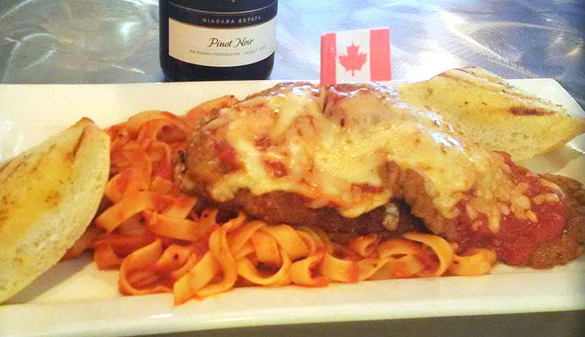 M.I.C.-Veal-Parmesan-breaded-veal-topped-withpomdoro-sauce-and-mozzerella-on-bed-of-fettucini-MIC-Canadian-Eatery-Restaurant-Sudbury-Ontario