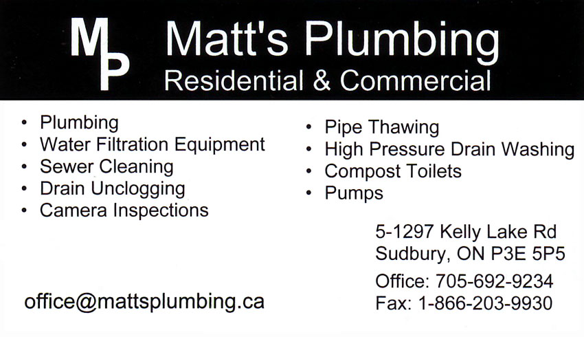 matts-plumbing-sudbury-ontario-plumbers-plumbing-contractors-pumps-sewer-cleaning-drain-unclogging-pipe-thawing