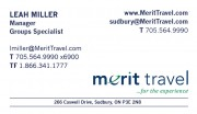 Merit Travel Agency in Sudbury Ontario Leah Miller Manager