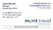 Merit Travel Agency in Sudbury Ontario Leah Miller Manager