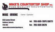 Mikes Countertop Shop Sudbury Ontario Countertops Kitchen Bathroom Remodelling Mike Irvine Owner