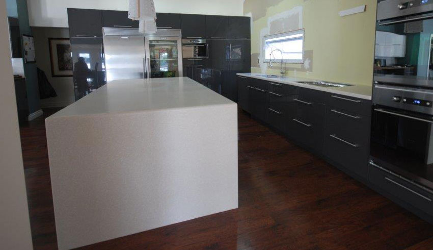Captivating ... Mikes Countertop Shop Sudbury Ontario Countertops Waterfall Corian  ...