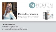 Nerium International Independent Brand Partner, Karen Mathewson in Sudbury, Ontario.