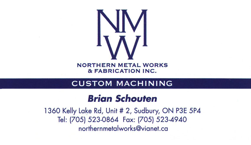 Northern Metal works and Fabrication Sudbury Ontario Machine Shops
