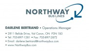 Northway Bus Lines Greater Sudbury Bus Charter Tours Coach Lines Darlene Bertrand
