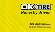OK Tire Sudbury Ontario Tire Retailers Wheel Alignment Car Repair Service Brakes John Goudreau Manager
