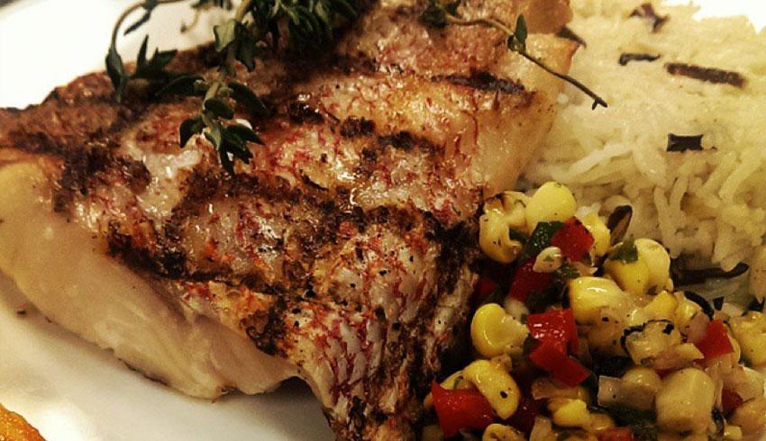 oscars-grill-sudbury-ontario-grilled-red-snapper-corn-cilantro-salsa