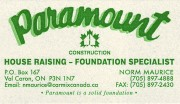 Paramount Construction Foundation Repair House Raising Waterproofing Contractors Sudbury Val Caron Ontario Norm Maurice