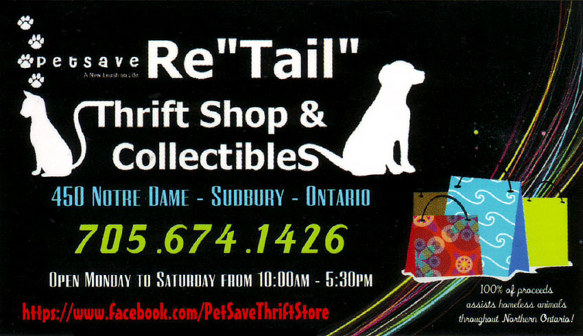 petsave-re-tail-thrift-shop-sudbury-ontario-collectibles-pet-supplies-services-social-organizations-consignment-dog-cat-homeless-animals